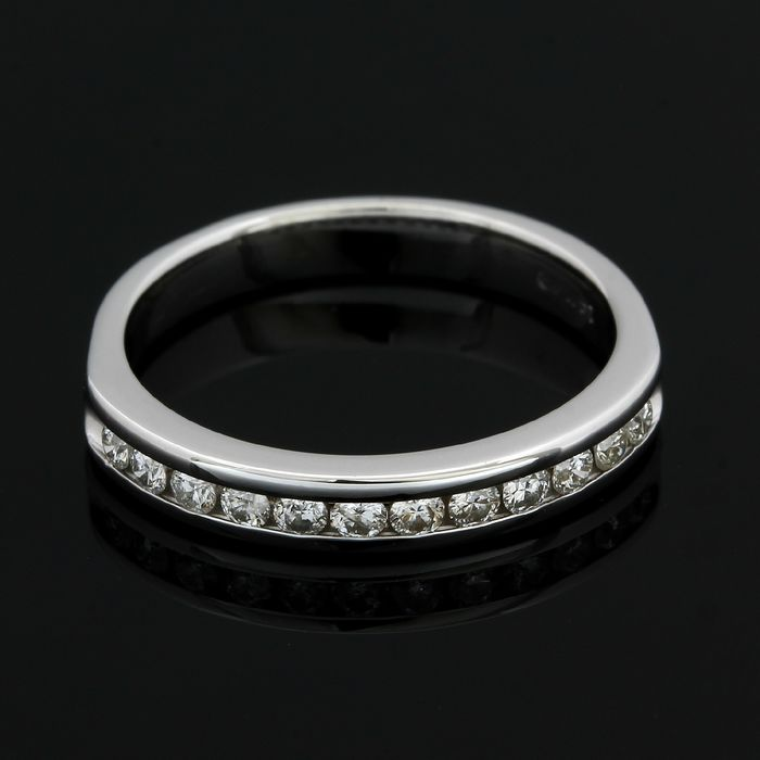 14 quilates Oro blanco - Anillo - 0.20 ct Diamante