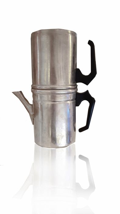 Working vintage coffee pot (1) - Aluminium