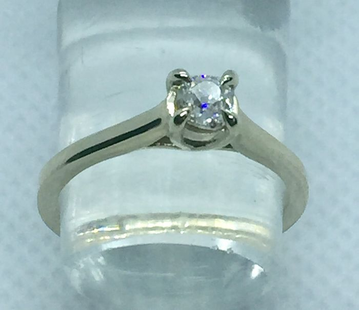 18 quilates Oro blanco - Anillo - 0.43 ct Diamante