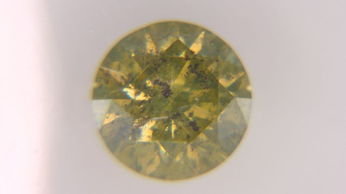 1 pcs Diamant - 0.62 ct - Rond - fancy orange brown - I3 (piqué), No Reserve Price!