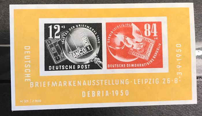 RDA 1949/1965 - Nice lot with MNH an MH, minisheets