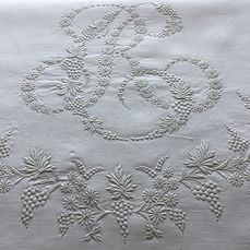FRENCH VICTORIAN LINEN BED SHEET - Linen - Early 20th century