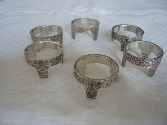 Egg cups - Silver Plated Metal - France - Second half of the 20th century