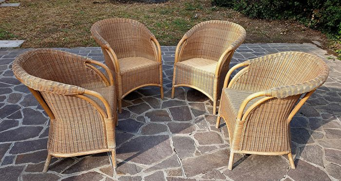 Chairs for indoor and outdoor use - Wicker