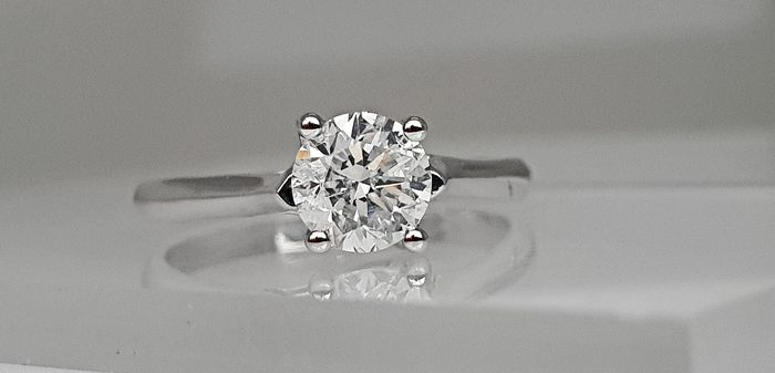 18 quilates Oro blanco - Anillo - 0.72 ct Diamante - Sin reserva E / SI2