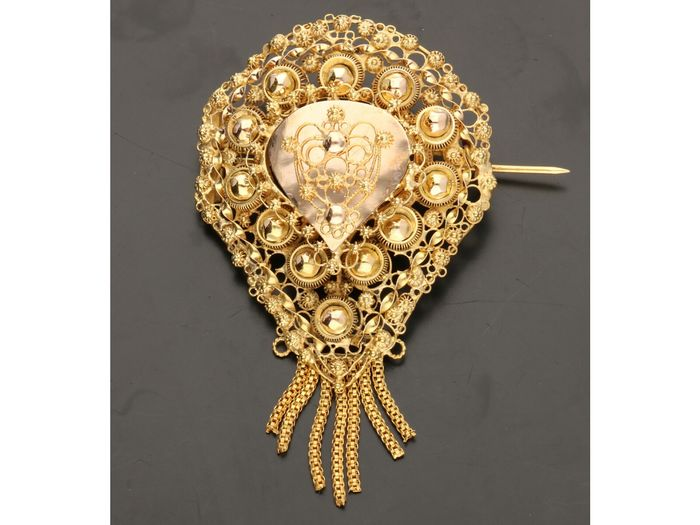 14 carats Or jaune - Broche