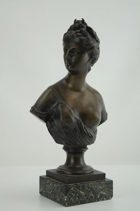 After Houdon - Bust of Diane Chasseresse