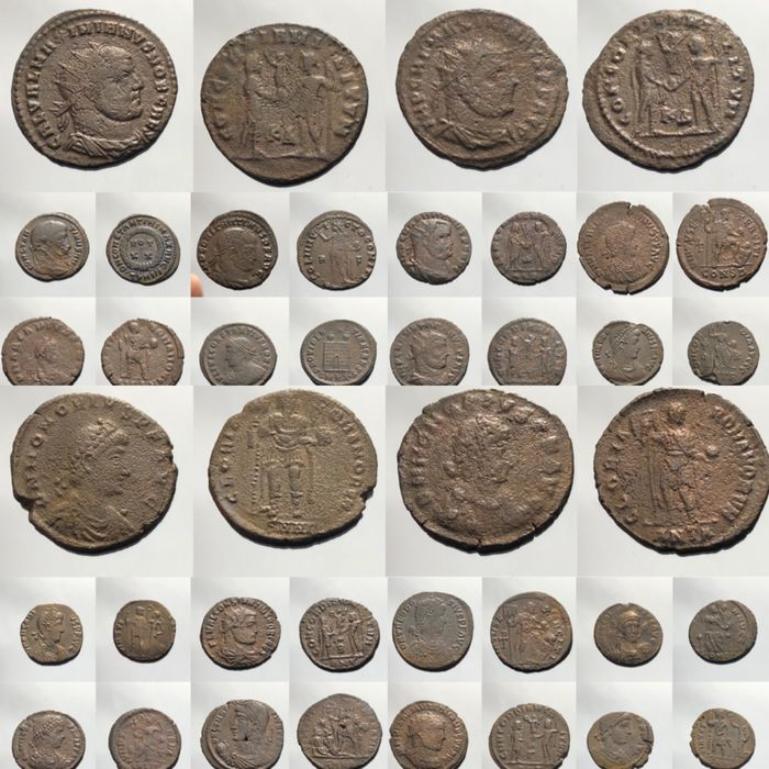 Roman Empire - Lot comprising 20 AE (Antoniniani and Folles)  3rd-4th century AD