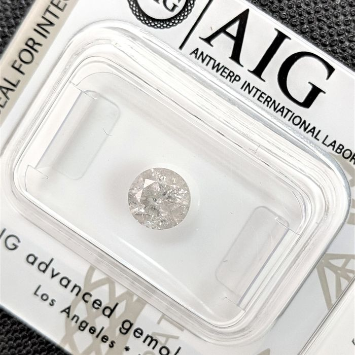Diamant - 0.94 ct - Brillant - I - I3 (Piqué), No Reserve Price
