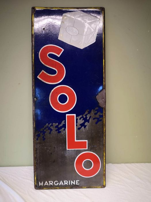 Solo margarine - Advertising board - Emaille