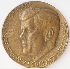 Holland - Herdenkings penning John F. Kennedy  1963 - A noble sevant of Peace