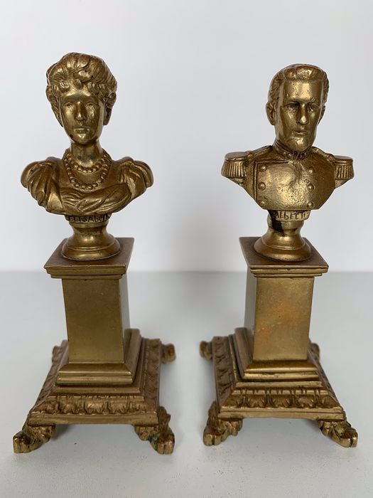 Bronze (2) - Bronze (gilt/silver-plated/patinated/cold painted)