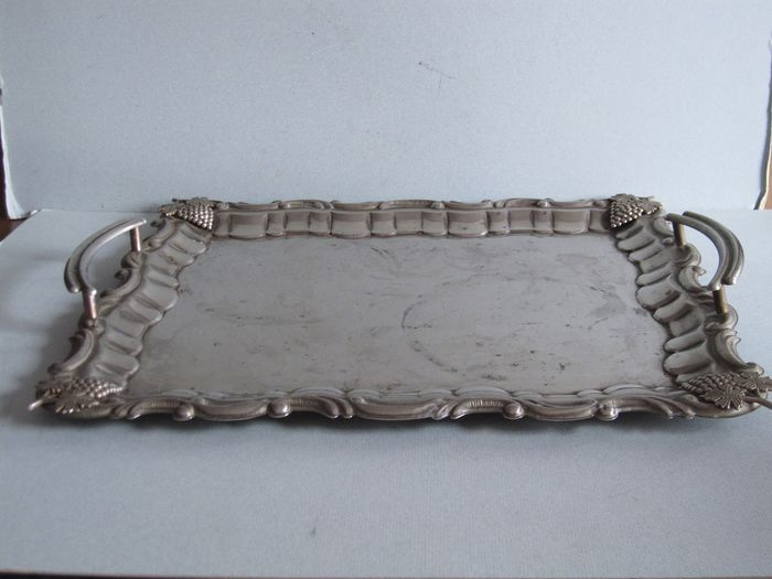 Stylepure silver - coloured tray - Rococo style - assorted metals