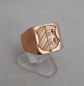 Chevaliere - 18 kt. Gold - Ring, Armoirie