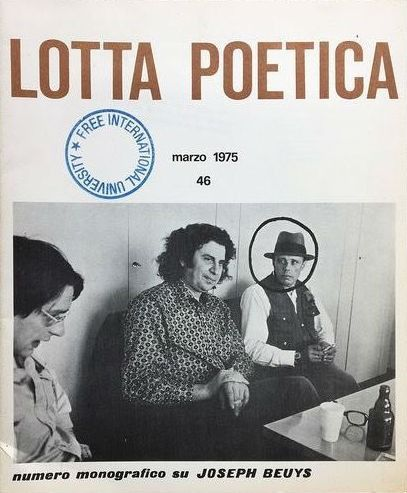 Joseph Beuys and Paul de Vree/Sarenco - Lotta Poetica 46 / numero monografico su Joseph Beuys - 1975