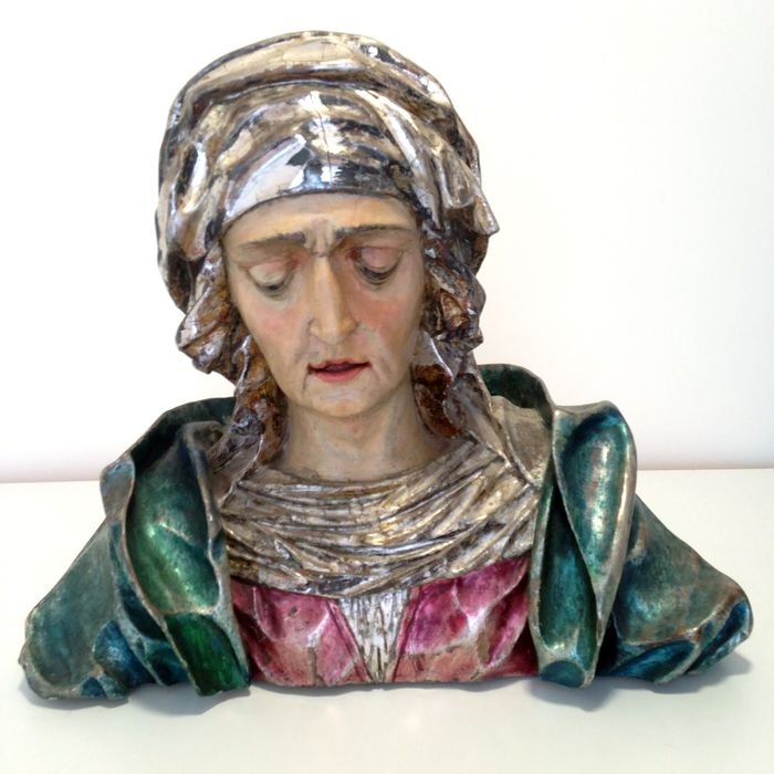 Bust, Mater Dolorosa - Baroque - Wood - 17th century