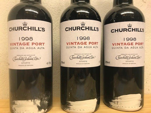 1998 Churchill's Quinta da Agua Alta Vintage Port - 3 Bottles (0.75L)