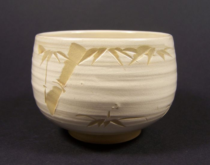 Chawan - Porzellan - A probably Kiyomizu-yaki tea bowl for the outdoor green tea ceremony - Japan - Ca. 1950er Jahre (Early Showa)
