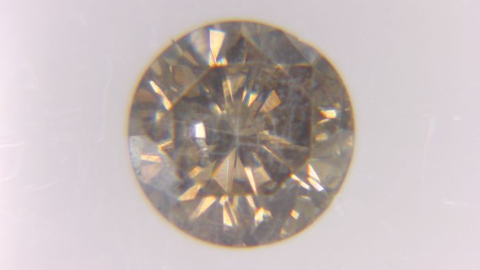 1 pcs Diamond - 0.41 ct - Στρογγυλό - Fancy Grayish Yellowish Brown - SI2, No Reserve Price!