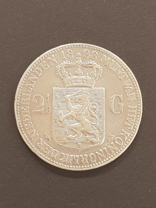 The Netherlands - 2½ Gulden 1898a Wilhelmina - Silver