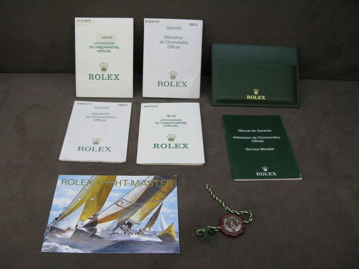 Rolex - Green leather wallet  and Guarantee manuel & cosc rope  - Men - 2011-present