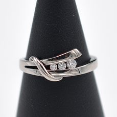 18 kt. White gold - Ring - Diamonds