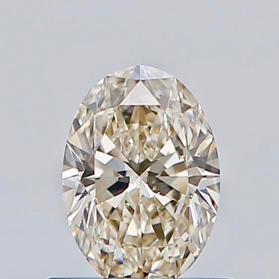 1 pcs Diamante - 0.52 ct - Ovalado - Faint brown - VS2, ***no reserve***