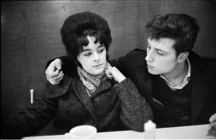 John Bulmer (1938-)  - Black Country, young couple in pub, 1961