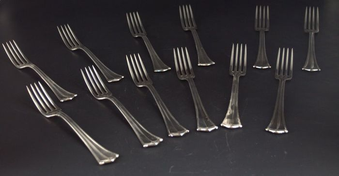 Sambonet - SAMBONET - Set of forks for cakes and appetizers (12) - Silverplate