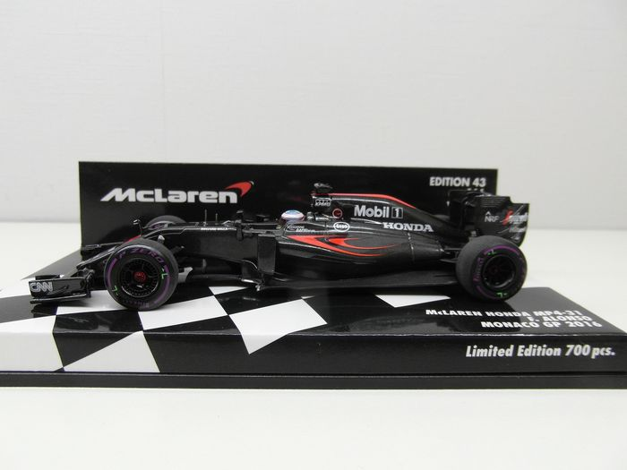 MiniChamps - Scale 1:43 - Fernando Alonso McLaren Honda MP4-31 Monaco Gp 2016 - 530164114