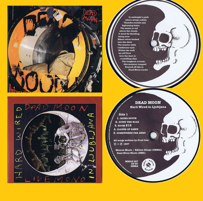 Dead Moon (Garage Rock, Punk, Psychedelic Rock) - 1. Livevil 2. Hard Wired in Ljubljana - Multiple titles - 2xLP Album (double album) - 1991/1997