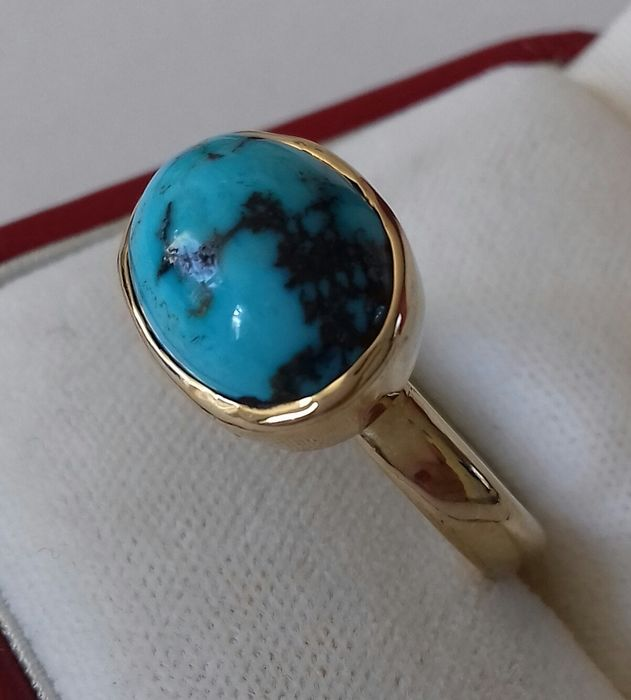 14 carats Or - Bague Turquoise