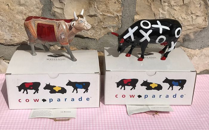 Cow Parade Figurines - Retired - Boxed (2) - Earthenware