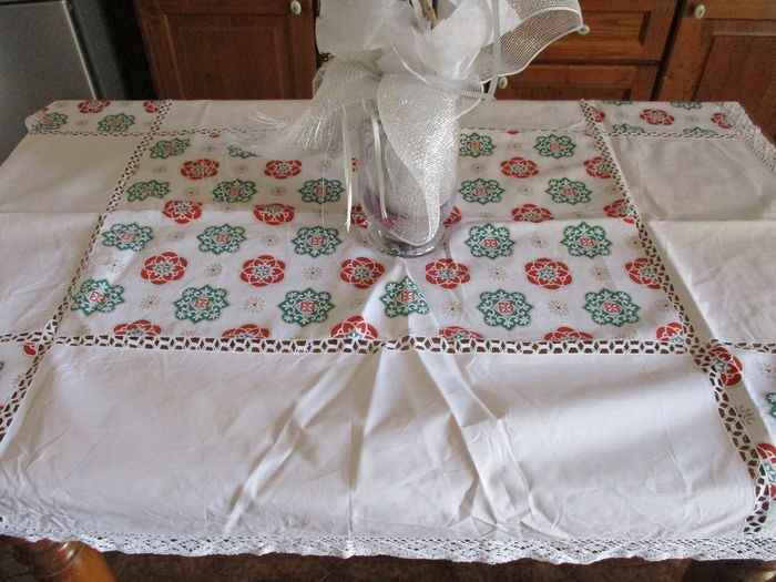 Tablecloth (1) - Antique cotton