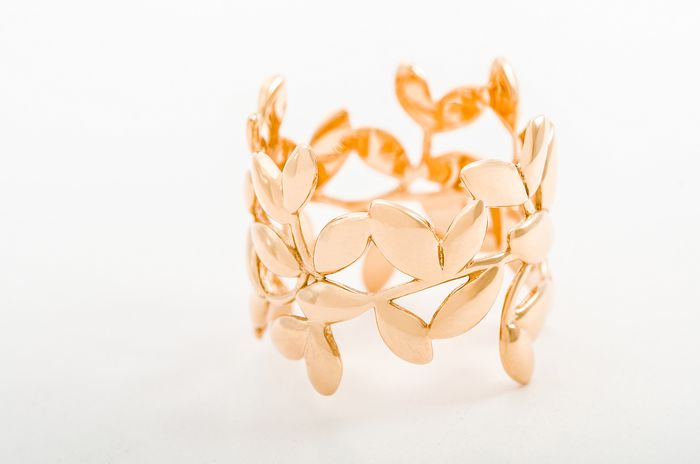 Tiffany & Co. Paloma Picasso Olive Leaf Band Ring Rose Gold - Ring