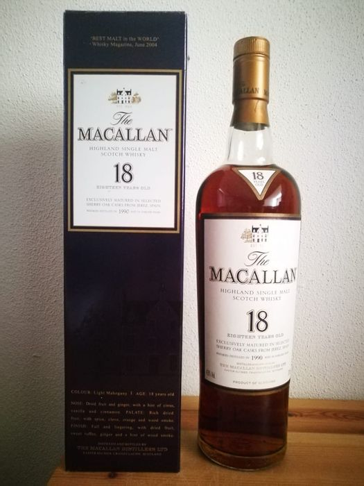 Macallan 1990 18 years old Sherry Oak - b. 2000s to today - 0.7 Ltr