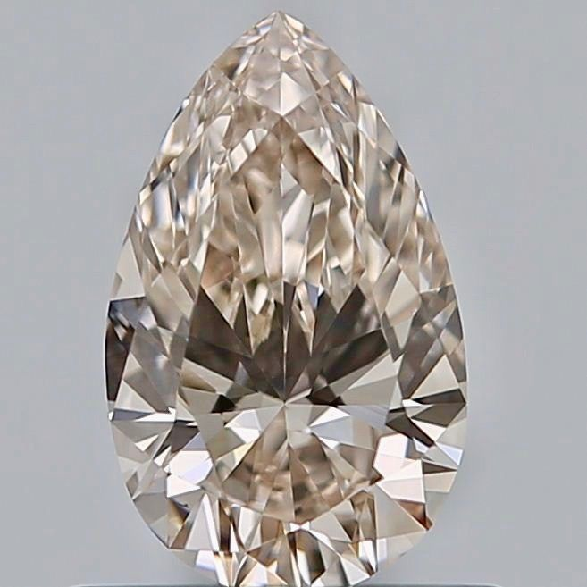 1 pcs Diamant - 0.61 ct - Poire - Faint brown - VS1, ***no reserve***