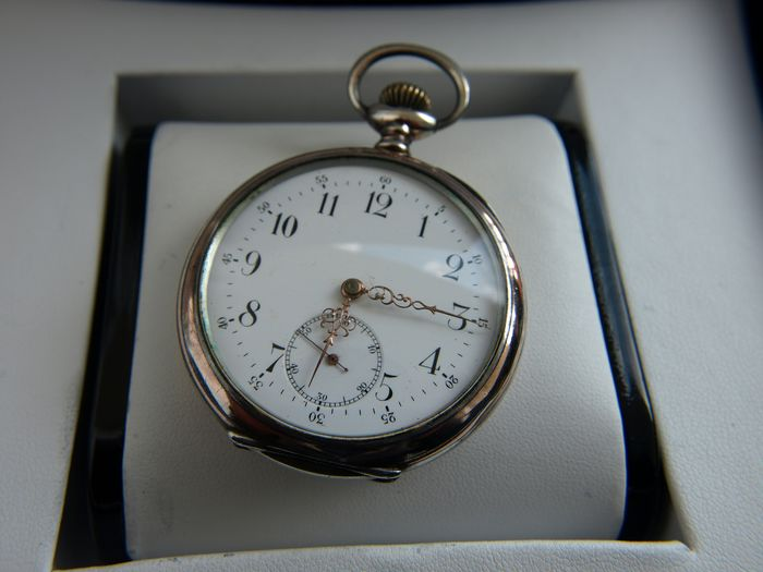 Recta  - silver pocket watch NO RESERVE PRICE medal version 1905  - 133905 - Heren - 1901-1949