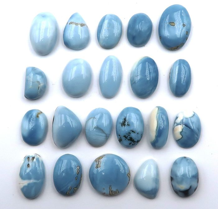 21 pcs Blue Opal - 149.20 ct
