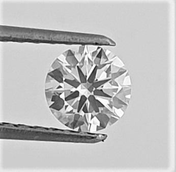 Diamond - 0.66 ct - Brilliant - D (colourless) - VS2