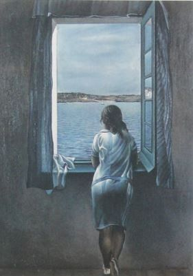 Salvador Dalí (after) - Girl at the window
