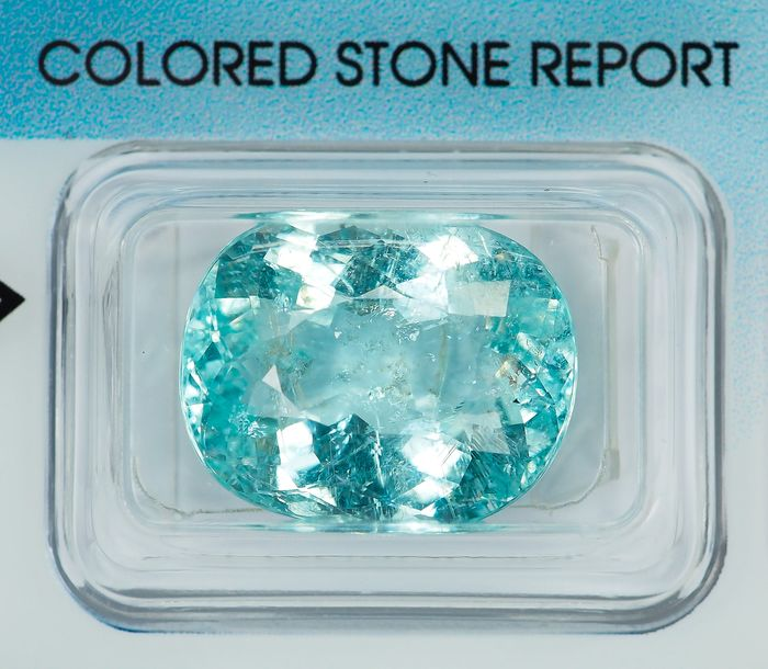 "Greenish Blue ""Paraiba"" Tourmaline - 13.75 ct"