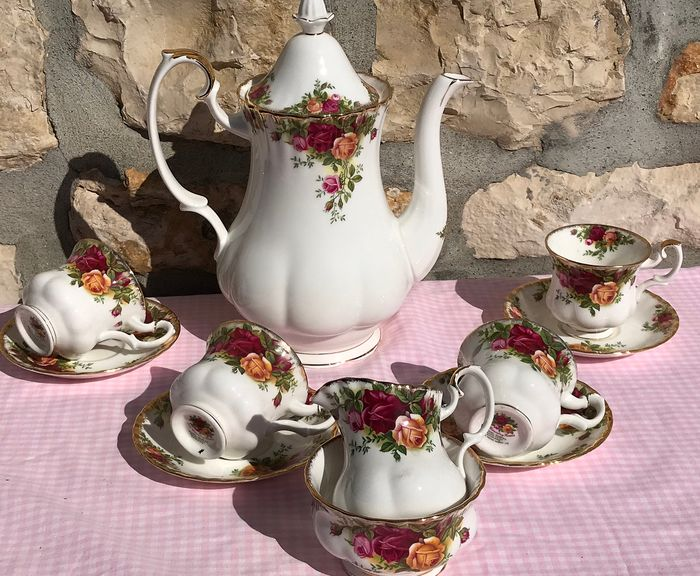 Royal Albert Old Country Roses - Koffie service (11) - Porselein