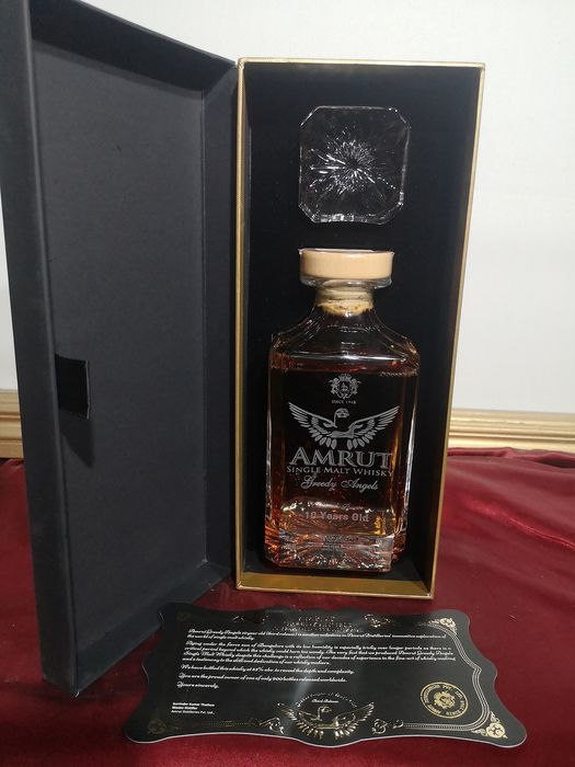 Amrut 10 years old Greedy Angels Peated  2019  bourbon  - 0,7 l
