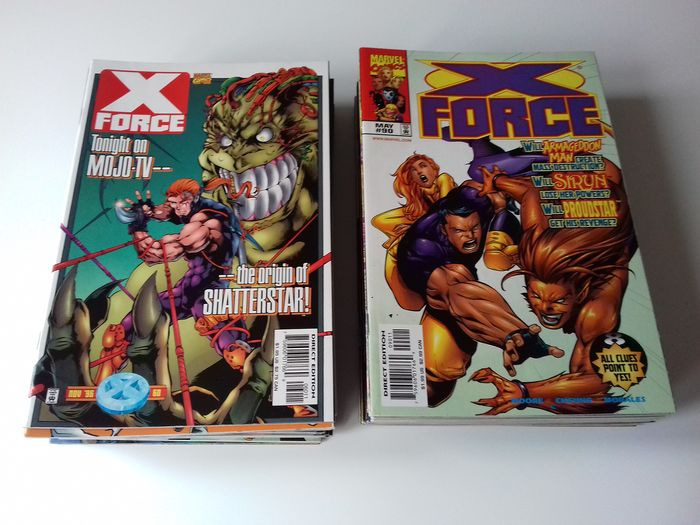 X-Force Vol 1 Comic Collection - Ranging from #60 to #118 - Erstausgabe