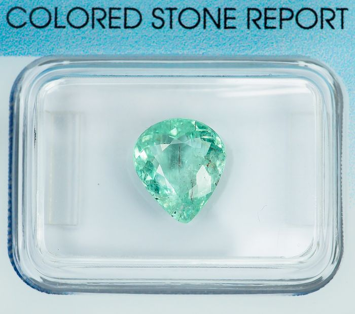 "No Reserve - Green ""Paraiba"" Tourmaline - 2.10 ct"