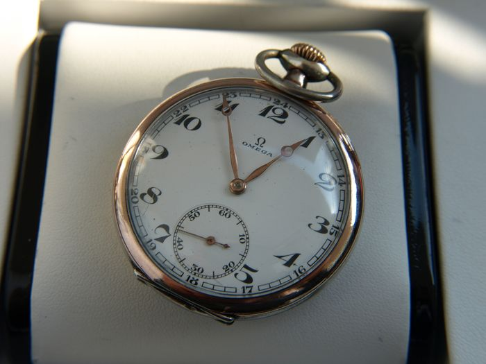 Omega - silver pocket watch NO RESERVE PRICE -  7721383 - Heren - 1901-1949