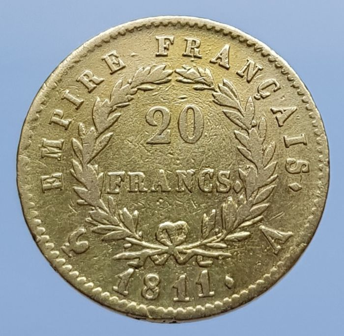 20 Francs 1811-A Napoleon - Or