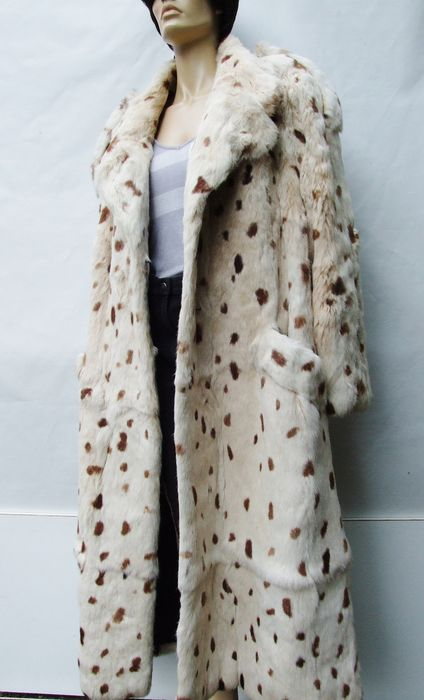 Handmade - Full Winter LAPIN (Rabbit) Coat - Size: EU 48 (IT 52 - ES/FR 48 - DE/NL 46), EU 50 (IT 54 - ES/FR 50 - DE/NL 48), XXL
