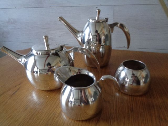 tea and coffee service (4) - Art Deco - english silver plate